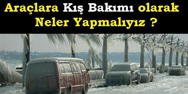 Kış Geliyor Araçlarımıza Kış Bakım olarak Neler Yapmalıyız.!
