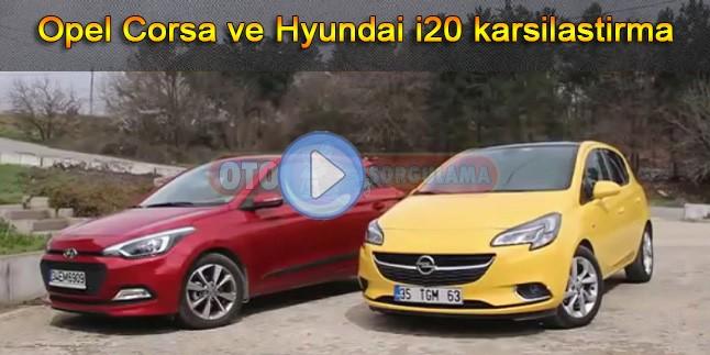 Opel Corsa ve Hyundai i20 karsilastirma