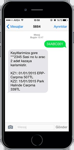 arac sorgulama sms 1
