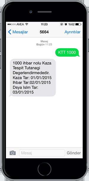 arac sorgulama sms 10