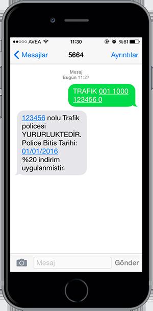 arac sorgulama sms 13