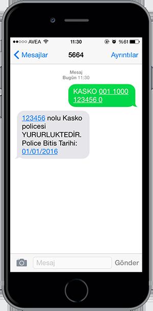 arac sorgulama sms 14