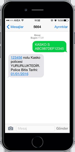 arac sorgulama sms 16