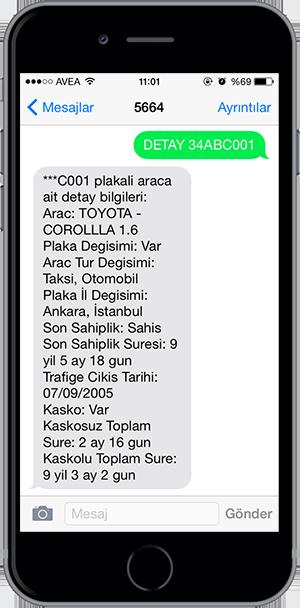 arac sorgulama sms 4