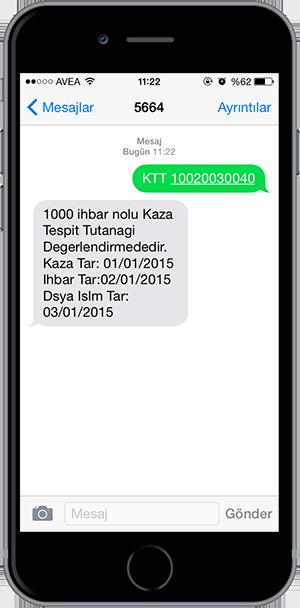 arac sorgulama sms 9