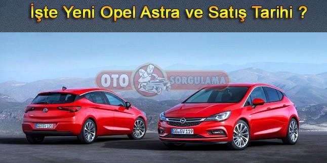 İşte Yeni Opel Astra ve satış tarihi ?