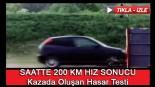 Saatte 200 Km İle Kazada Oluşan Hasar Testi