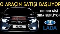 Lada Vesta'nın Satışları Başlıyor