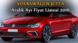 Volkswagen Jetta aralık ayı fiyat listesi 2016