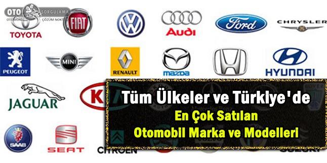 Tüm Ülkeler ve Türkiye'de en çok satılan otomobil markaları