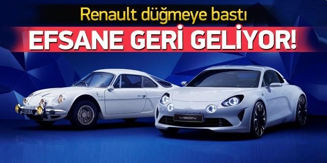 Renault Alpine yeniden yollara geri dönüyor